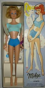 No2 #860 Midge Straight Legs ~blonde~ NRFB