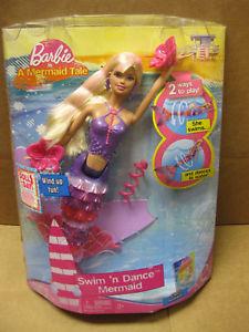 2009 Barbie A Mermaid dolls Swin b Dance