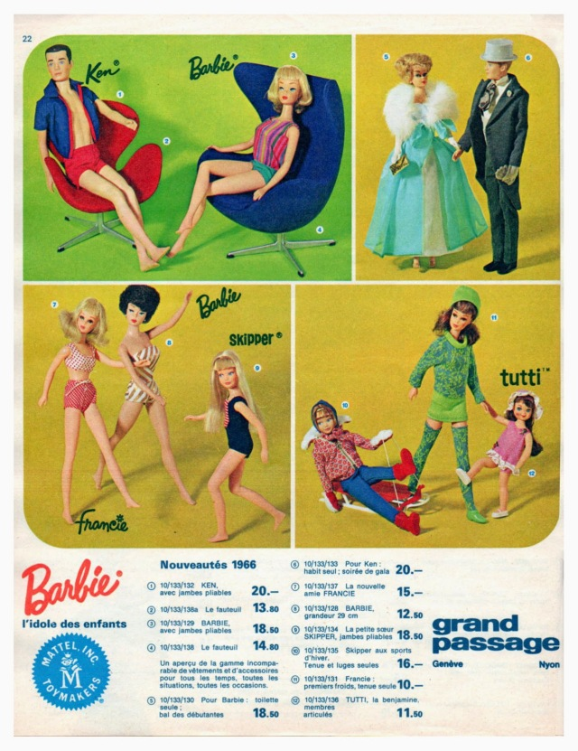 1966 Ad from Mattel France Europe