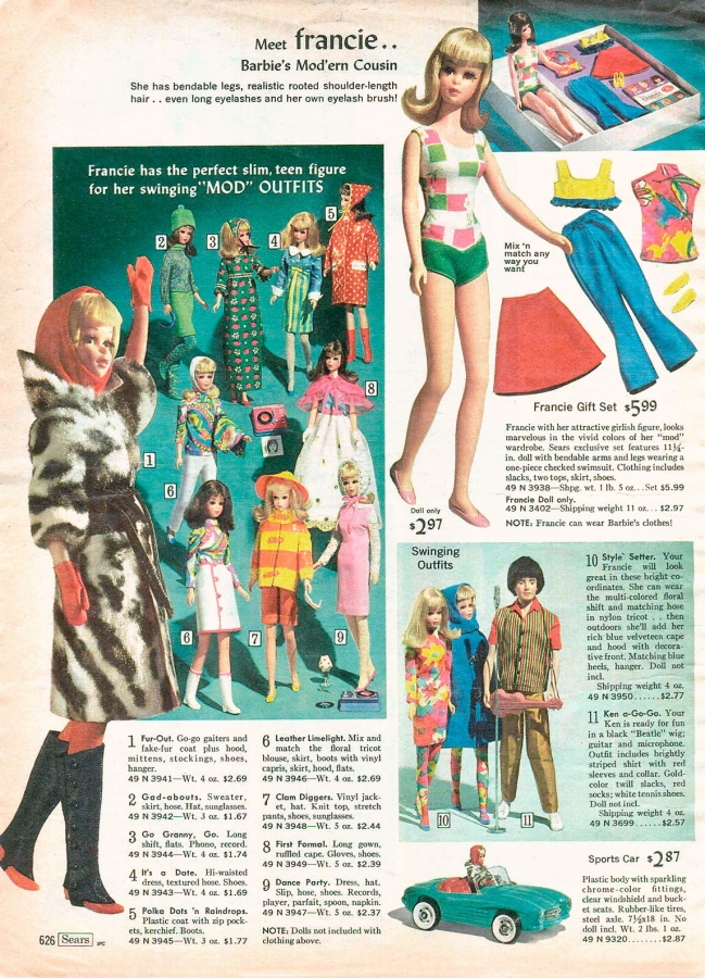 1966 Sears Christmas Wish Book | Barbie Doll, friends and