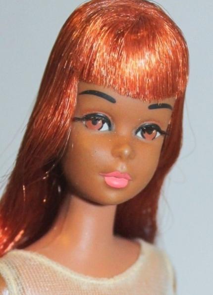 1st Ed. Black 'FRANCIE TWIST N TURN MOD Barbie Doll Red Oxidize