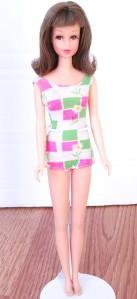 Brunette Bend Leg Francie Doll Mint!