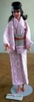 Brunette Francie in a rare Japanese Pink Kimono