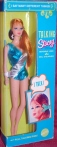 Talking Stacey Blue Silver Swimsuit NRFB #1125