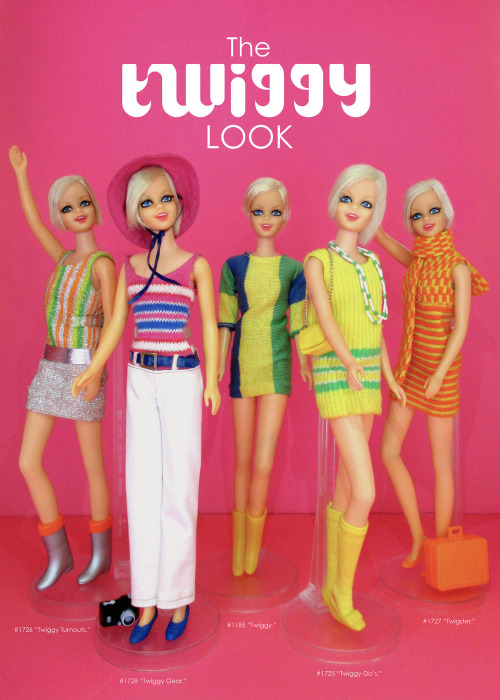 Twiggy look ad mattel