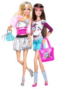 2010 Barbie Fashionistas Glam And Sporty.