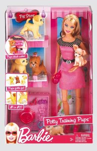 2010 Barbie Potty Training Pups