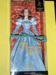 Barbie Renaissance Faire Paris Expo 2011 Limited to 400-brunette Version NRFB