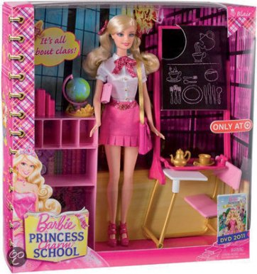 2011 Barbie-Princess-Charm-School-Classroom-playset