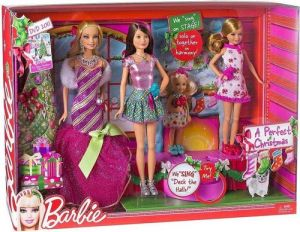 2011 A PERFECT CHRISTMAS BARBIE, STACIE, SKIPPER & CHELSEA (KELLY) GIFTSET NRFB