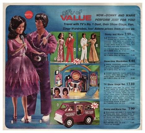 1978 Donny & Marie Osmond Purpel Van - Mattel Ad.