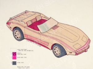 1982 Pink Corvette Car concept art