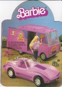 1983 Barbie De wereld van Barbie - #3424 Barbie Camper en #3299 Dream Vette - Netherlands