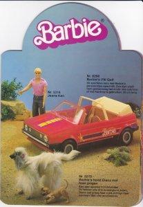 1983 Barbie De wereld van Barbie - #8298 Barbie's VW Golf - Netherlands.