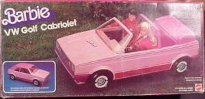 1983 Barbie VOLKSWAGON GOLF CABRIOLET