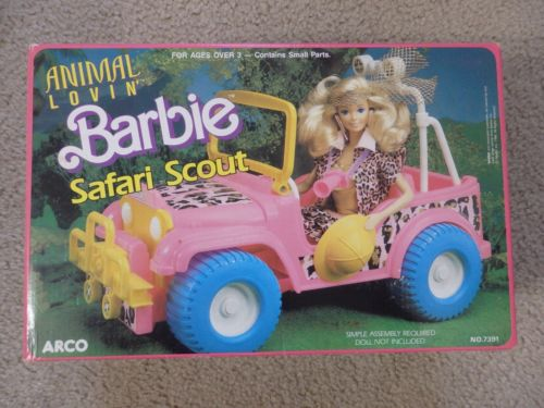 1988 #7391 Animal Lovin' Barbie Safari Scout Arco (Toy - Mattel) - NRFB
