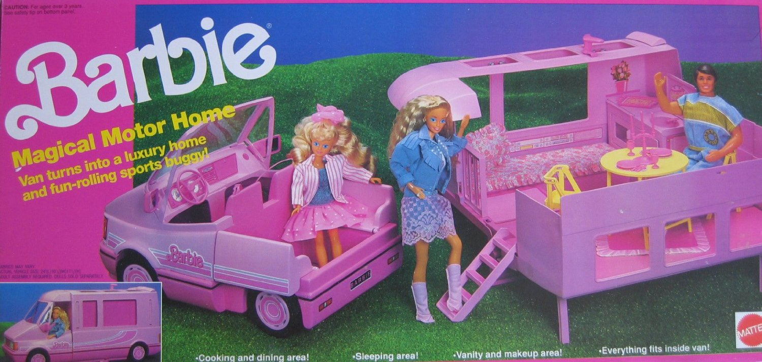 1990 Barbie Magical Motor Home Barbie Doll Friends And