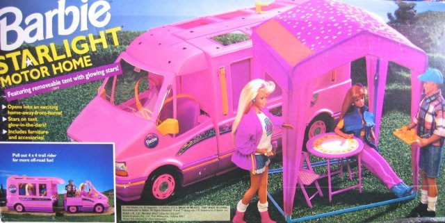 1993 STARLIGHT MOTOR HOME Pink Vehicle MOTORHOME Van with TENT & TRAIL RIDER