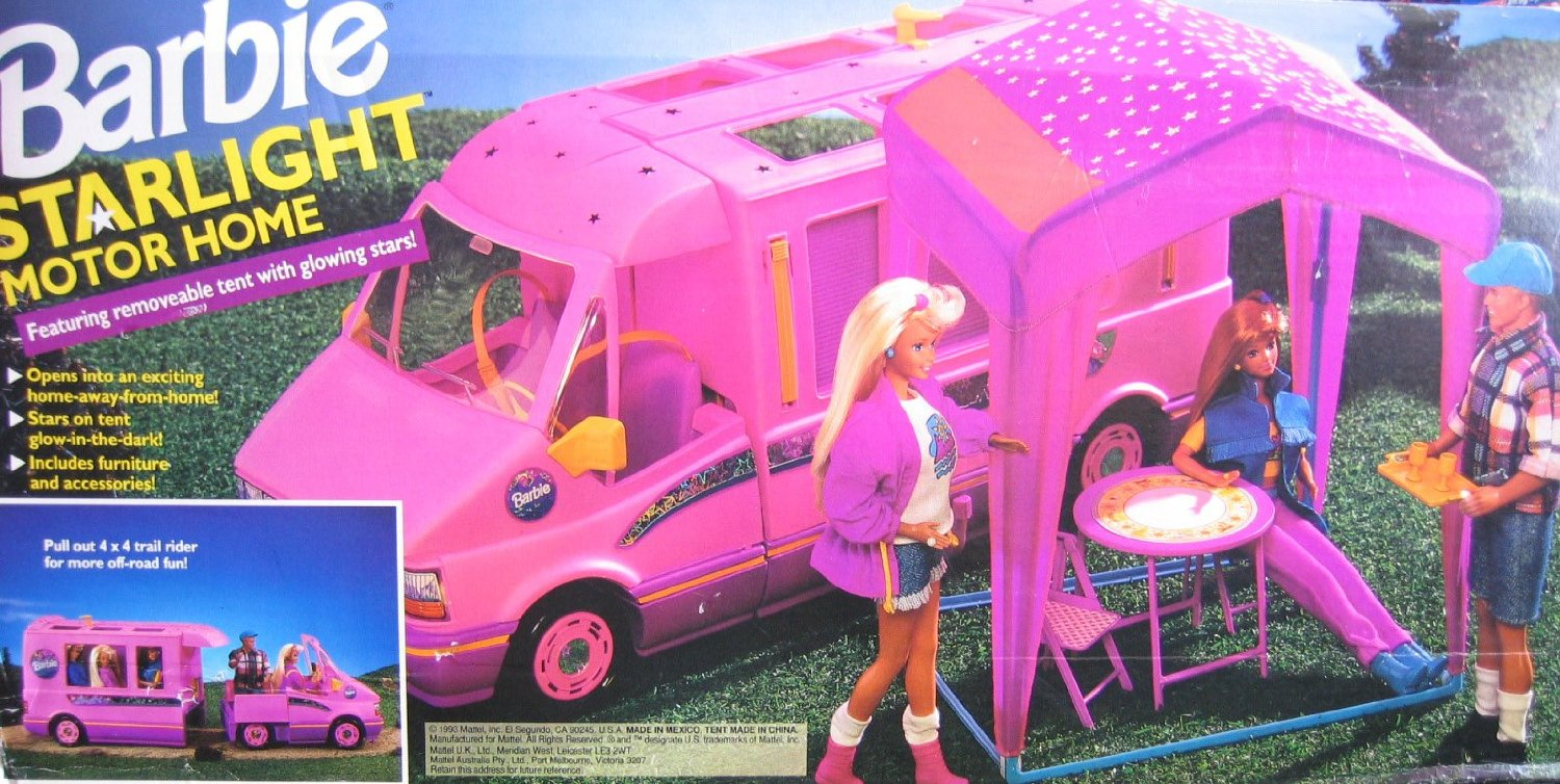 1993 STARLIGHT MOTOR HOME Pink Vehicle MOTORHOME Van with TENT u0026 TRAIL RIDER : tent and trail - memphite.com