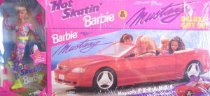 1994 Hot Skatin' Barbie & Mustang Deluxe Gift Set