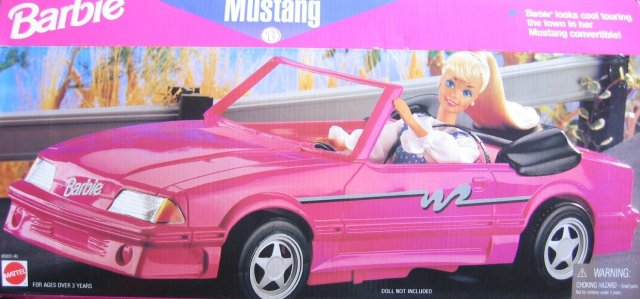 1996 Barbie Mustang Convertible (Arco Toys - Mattel)