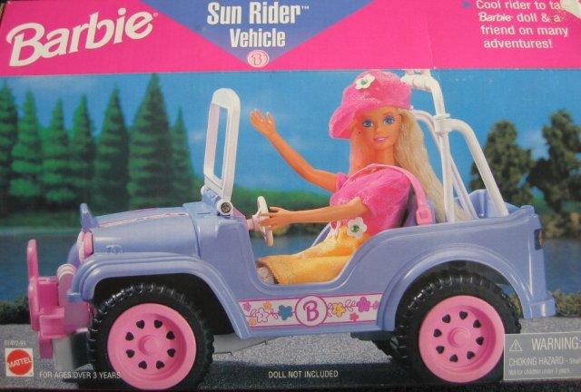 1996 Barbie Sun Rider Vehicle Purple Jeep
