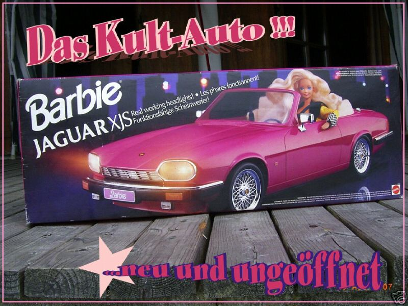 Barbie Cabrio Jaguar Xjs Retro Kult Auto Neu Ovp Barbie Doll