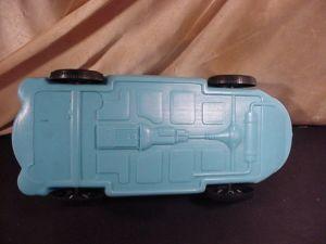 MERCEDES BARBIE CAR by IRWIN box - blue white bottem