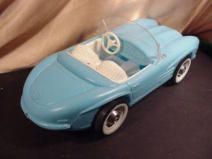 MERCEDES BARBIE CAR by IRWIN box - blue white