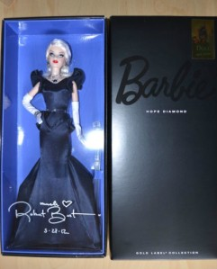 2012 Italian Barbie Convention HOPE DIAMOND signed Platinum Blonde LE NRFB