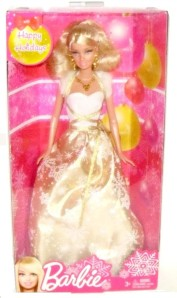 "2012 Happy Holidays Christmas Barbie 11"" Fashion Doll NRFB"
