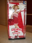2012 University of Arkansas Razorbacks Barbie Doll NRFB