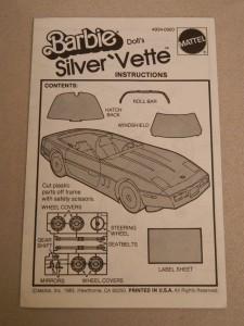 1983 Vette INSTRUCTIONS booklet