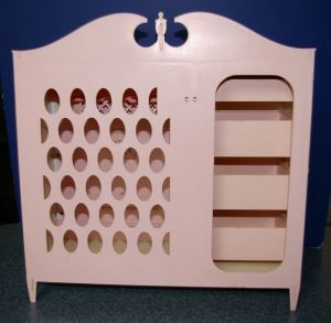 1964 Barbie and Midge Queen Size Chifforobe - back