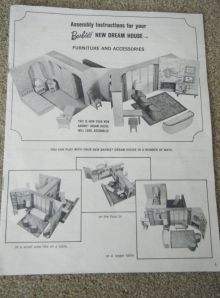 1965 Mattel Barbie Dream House Assembly Instructions Original Booklet