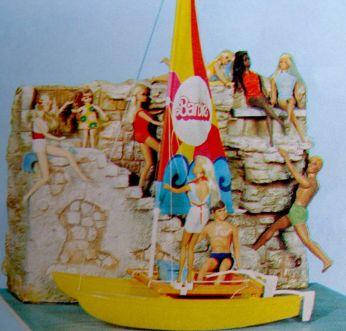 1976 German Exclusive Barbie and friends display 2