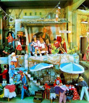 1976 German exclusive Barbie and friends display.