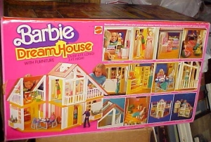 1978 BARBIE DREAM HOUSE w Furniture A-Frame Orange Yellow Version