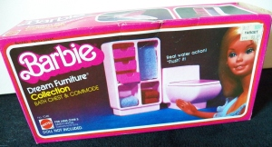 1979 Barbie Dreamhouse Bathroom Furniture