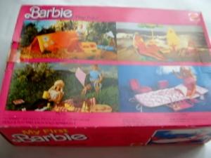 1984 Barbie slumber party back box