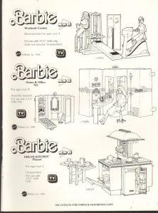 1985 VINTAGE AD SHEET #1331- MATTEL - BARBIE DOLL - WORKOUT CENTER