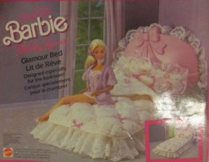1987 Living Pretty Barbie & Ken Mobilier Elegance Glamour - Bed Set