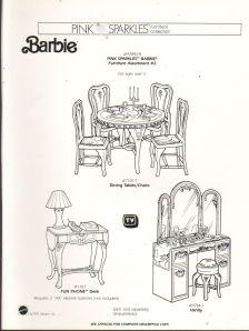 1991 VINTAGE AD SHEET #1282- MATTEL