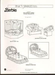 1991 VINTAGE AD SHEET #1283- MATTEL