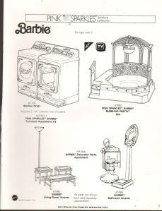 1991 VINTAGE AD SHEET #1284- MATTEL - BARBIE DOLL - PINK SPARKLES BUBBLING