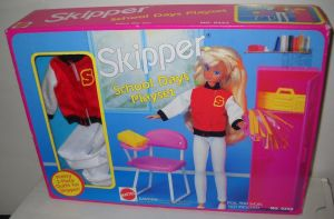 1992 #1356 NRFB Vintage Mattel Skipper School Days Playset