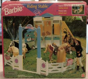1998 BARBIE HORSE RIDING STABLE