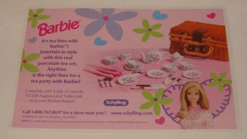 1999 BARBIE TEA TIME set print ad