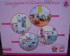 2007 Barbie Furniture Deluxe Gift Set back
