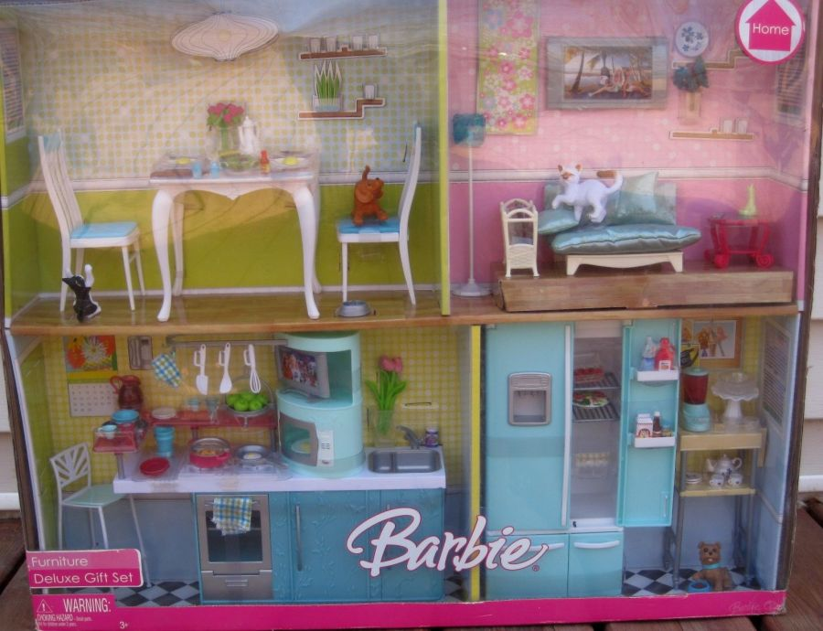 2007 Barbie Furniture Deluxe Gift Set Barbie Doll Friends And